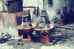 Prato de aquecimento por atrito velho Imagem de Stock Royalty Free