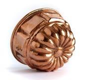 Prato de cobre do cozimento fotografia de stock