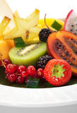 Prato de fruta exótico fotos de stock royalty free