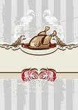 Prato de galinha ilustração do vetor