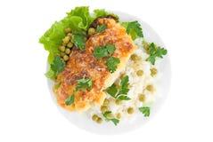 Prato de galinha muito saboroso Fotos de Stock Royalty Free