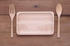 Prato de madeira Fotografia de Stock Royalty Free
