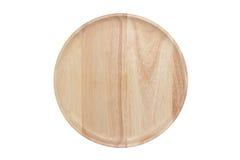 Prato de madeira vazio Imagens de Stock