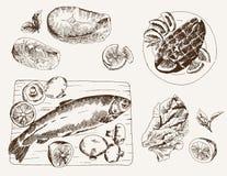 Prato de peixes ilustração royalty free