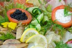 Prato de peixes. Foto de Stock Royalty Free