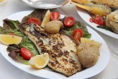 Prato de peixes Fotos de Stock Royalty Free