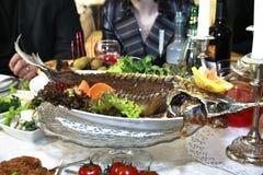 Prato de peixes, esturjão Fotos de Stock Royalty Free
