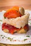 Prato de vegetais grelhados com arroz Imagens de Stock Royalty Free
