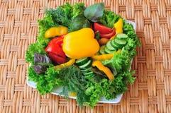 Prato de vegetariano Fotografia de Stock Royalty Free