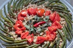 Prato de vegetariano soletrado Fotos de Stock