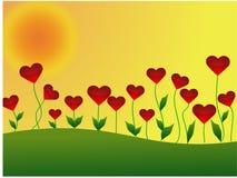 Prato del cuore Royalty Illustrazione gratis