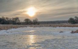 Prato del ghiaccio di alba Immagini Stock Libere da Diritti