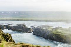 Prato dell'Islanda di estate Fotografie Stock Libere da Diritti