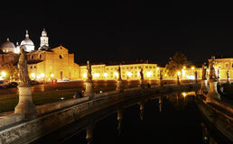 Prato della valle aquare in padua by night Royalty Free Stock Photos