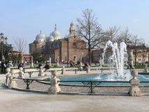 Prato della Valle, Basilica of Santa Giustina, Padova (Padua), Italy Royalty Free Stock Photos