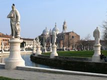 Prato della Valle, Basilica of Santa Giustina, Padova (Padua), Italy Stock Images