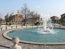 Prato della Valle, Basilica of Santa Giustina, Padova (Padua), Italy Stock Photo