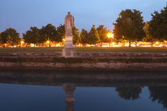 Prato della Valle at dusk Stock Photography