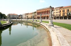 Prato della Valle in italian Padua Royalty Free Stock Photography