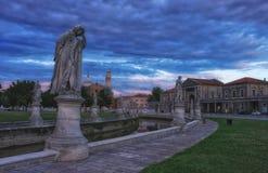 Prato della Valle kwadrat przy wieczór, Padua, Włochy Zdjęcie Stock
