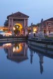 Prato della Valle på skymning, Padova Royaltyfria Bilder