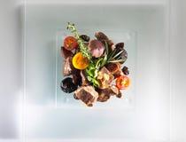 Prato do alimento da carne imagens de stock