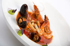 Prato do alimento de mar Imagens de Stock