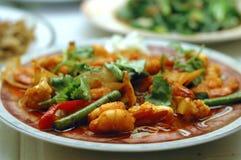 Prato do camarão Fotografia de Stock