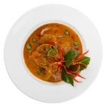 Prato do caril de Panang Fotos de Stock Royalty Free