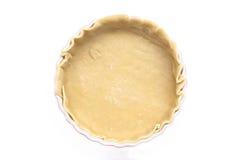 Prato do Flan com base da pastelaria Imagens de Stock