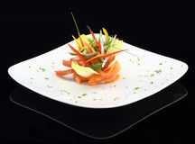 Prato do gourmet Foto de Stock Royalty Free