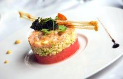 Prato do gourmet fotos de stock royalty free