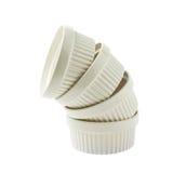 Prato do ramekin do souffle da porcelana isolado Imagens de Stock Royalty Free