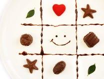 Prato do Valentim dos chocolates Foto de Stock Royalty Free