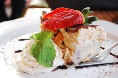 Prato doce do creme-queijo comido em Easter imagem de stock royalty free