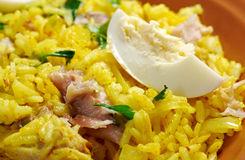 Prato escocês - Kedgeree Foto de Stock