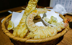 Prato fresco do tempura foto de stock royalty free