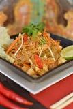 Prato fritado agitação do vegetal e do tofu Imagens de Stock Royalty Free