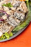 Prato fritado dos arenques Imagem de Stock