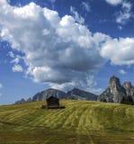Capanna della montagna, Dolomiti - Italia Immagini Stock Libere da Diritti