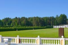 Prato inglese verde in sosta. Fotografie Stock