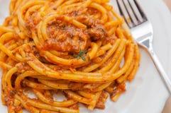 Prato italiano da massa imagem de stock