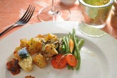 Prato lateral vegetal fotos de stock