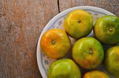 Prato maduro fresco das laranjas Fotografia de Stock