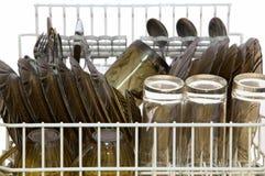 Prato na máquina de lavar louça Imagem de Stock Royalty Free