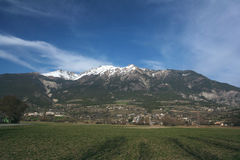 Prato nelle alpi Fotografie Stock