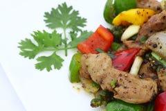 Prato picante da salada tailandesa da carne. Imagens de Stock