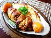 Prato principal da galinha turca Imagens de Stock
