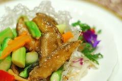 Prato principal do vegetariano saudável, chinês imagens de stock