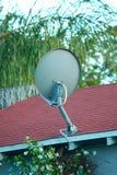 Prato satélite da tevê Imagem de Stock Royalty Free